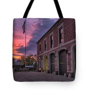 Kenmore Fire Hall Sunset Tote Bag