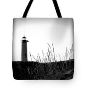 Kenosha North Pier Lighthouse Tote Bag