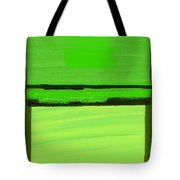 Kensington Gardens Series Green On Green Oil On Canvas Tote Bag
