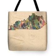 Kentucky Map Vintage Watercolor Tote Bag