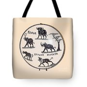 Kenya Animals Tote Bag