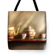 Kettle - My Grandmother's Chinese Tea Set  Tote Bag by Mike Savad