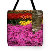 Keukenhof Floral Strata Tote Bag