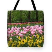 Keukenhof Gardens Panoramic 15 Tote Bag