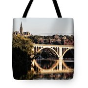 Key Bridge And Georgetown University Washington Dc Tote Bag