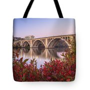 Graceful Feeling - Washington Dc Key Bridge Tote Bag