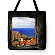 Key Hole View Of Dubrovnik Tote Bag