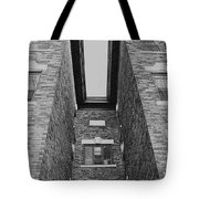 Key-stoning In Black And White Tote Bag