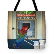 Key West - Parrot Taking A Break At Margaritaville Tote Bag