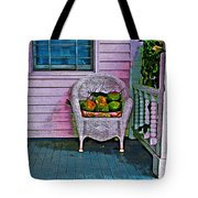 Key West Coconuts - Colorful House Porch Tote Bag