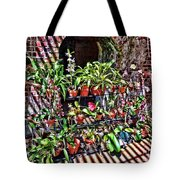 Key West Garden Club Pots Tote Bag
