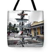 Key West Wharf Tote Bag