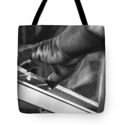 Keyboard In Black And White Tote Bag