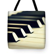 Keyboard Of A Piano Tote Bag by Chevy Fleet