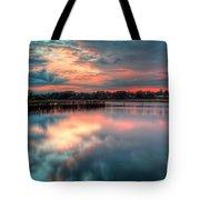 Keyport Nj Sunset Reflections Tote Bag