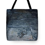 Keys On Stone Floor Tote Bag by Jill Battaglia