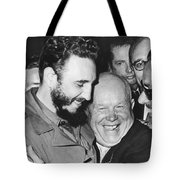 Khrushchev And Castro Tote Bag