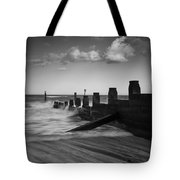 Kicked In The Groyne Tote Bag