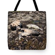 Kicking Back On The Rock Tote Bag