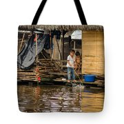 Kids At Play In Shanty Town Tote Bag