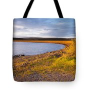 Kielder Dam In Late Evening Tote Bag