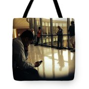 Killing Time At The Courthouse  Tote Bag