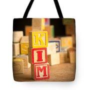 Kim - Alphabet Blocks Tote Bag by Edward Fielding
