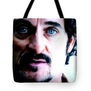 Kim Coates Large Size Portrait Tote Bag