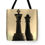 King And Queen In Sepia Tote Bag