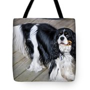 King Charles On The Boardwalk Tote Bag