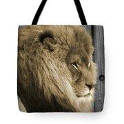 King In Sepia Tote Bag