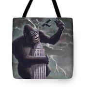 King Kong Plane Swatter Tote Bag by Martin Davey