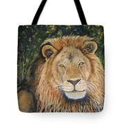 King Of The African Savannah Tote Bag