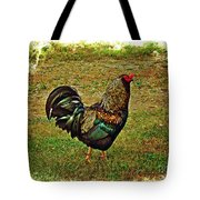 King Of The Hill - Winery Rooster Tote Bag