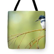 Kingfisher On A Willow Tote Bag