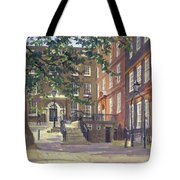 Kings Bench Walk, Inner Temple Oil On Canvas Tote Bag