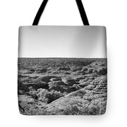 Kings Canyon Black And White Tote Bag