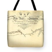 Kings Map Of The Red River In Louisiana 1806 Tote Bag