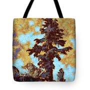 Kings River Canyon Colorized Tote Bag