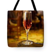 Kir Royale In A Champagne Glass Tote Bag
