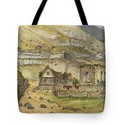 Kirk G Boe Inn And Ruins Faroe Island Circa 1862 Tote Bag