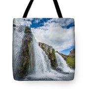 Kirkjufellsfoss Waterfalls, Church Tote Bag