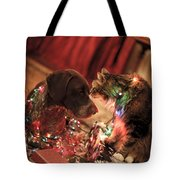 Kiss At Christmas Tote Bag