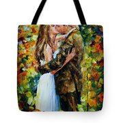 Kiss In The Woods Tote Bag