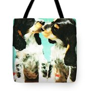 Kiss Me - Cocker Spaniel Art By Sharon Cummings Tote Bag by Sharon Cummings