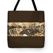 Kiss Me Hot Stuf In Sepia Tote Bag