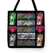 Kiss Me Hot Stuf Poster Tote Bag