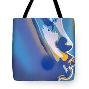 Kiss Series Blues And Yellows Tote Bag