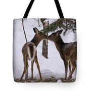 Kissing Deer Tote Bag