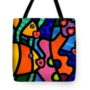 Kissing Fish Reef Tote Bag by Steven Scott